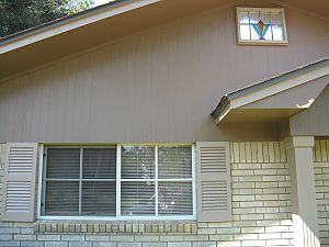exterior trim and shutters